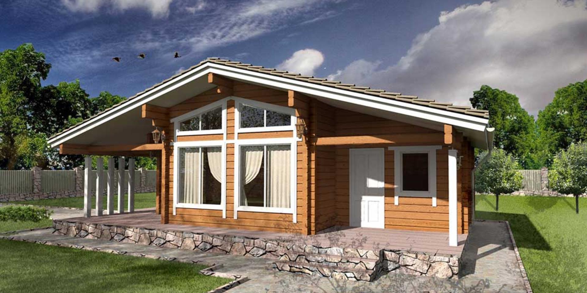 Деревянный дом из клееного бруса от компании АТТИКА